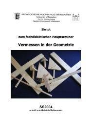 Vermessen in der Geometrie