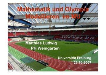 Mathematik und Olympia Modellieren im MU