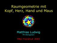 Fachsitzung Mathematik DHG