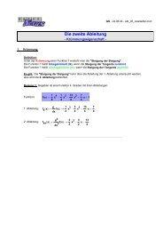 Die zweite Ableitung - MatheNexus