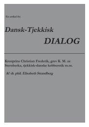 Kronprins Christian Frederik, grev K. M. ze Sternberka, tjekkisk ...