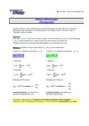 Höhere Ableitungen - Flachpunkte - - MatheNexus