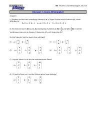 Übungen Lineare Abhängigkeit - MatheNexus