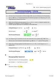 Extremwertaufgabe - Lösung - MatheNexus