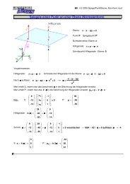 Spiegele einen Punkt an einer Ebene (Normalenform) - MatheNexus