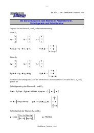 Die Darstellung von zwei Ebenen in Parameterform ... - MatheNexus