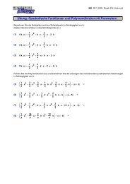Übung: Quadratische Funktionen und ... - MatheNexus