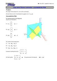 Lage dreier Ebenen zueinander - grundsätzliche Fälle - MatheNexus