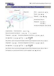 Projektion einer Geraden in eine Ebene ... - MatheNexus