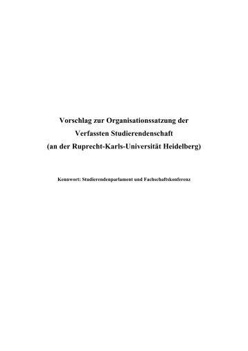 StuPa Satzung - Fachschaft MathPhys an der Uni Heidelberg ...