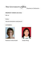 PREPRINT SERIES 2011/2012 - Department of Mathematics ...