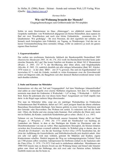 Hartmut Heller - Matreier Gespräche
