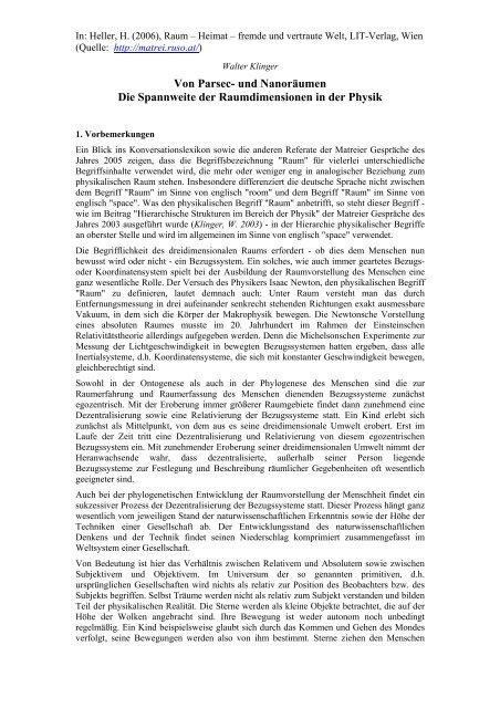Walter Klinger - Matreier Gespräche