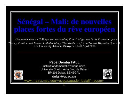 SENEGAL MALI Turquie ppt.pdf - Matrix