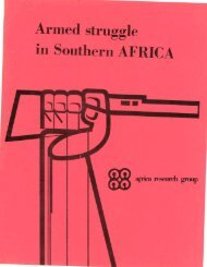 · Armed struggle in Southern AFRICA - KORA