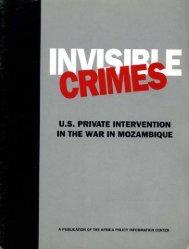 u.s. PRIVATE INTERVENTION IN THE WAR IN MOZAMBIQUE - KORA
