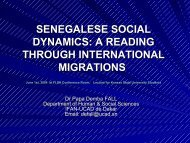 senegalese social dynamics: a reading from the ... - Matrix