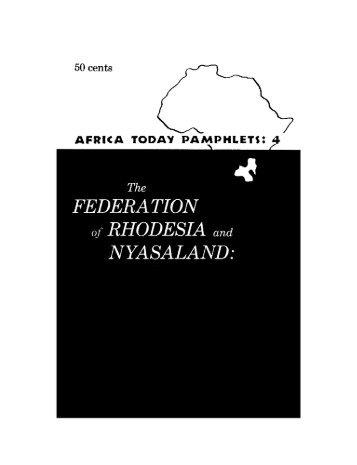 FEDERATION of RHODESIAand NYASALAND: - KORA