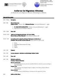 IMI Rabat 2008 programme - Matrix