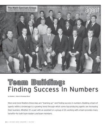 Team Building: Finding Success In Numbers - Matt Garrison Group