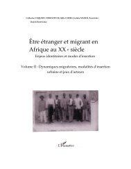 Être étranger et migrant en Afrique au XX e siècle - Matrix