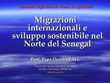 Migrazioni internazionali e sviluppo sostenibile nel Norte del - Matrix