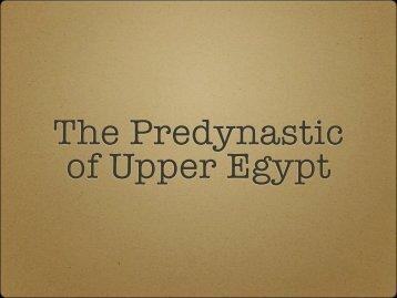 Upper Egyptian Predynastic