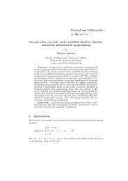 Second order convexity and a modified objective function method in ...