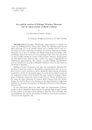 An explicit version of Faltings' Product Theorem and an ...