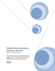 Online Documentation Software Review - MavDISK - Minnesota ...
