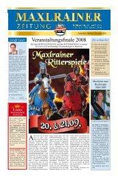 Veranstaltungsfinale 2008 - Schlossbrauerei Maxlrain