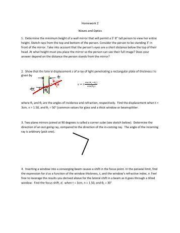 optics homework help