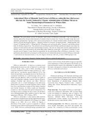 Antioxidant Effect of Ethanolic Seed Extract of ... - Maxwell Science