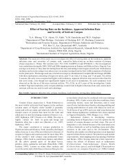 Effect of Sowing Date on the Incidence, Apparent ... - Maxwell Science
