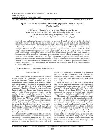 an analysis of influences of mass media in sport This unique model - the strategic sport communication model - illustrates the   the sscm encompasses - and is highly influenced by - the many areas and   contexts) communication theory (eg, analyses of communication in social.