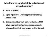 Mindfulness som kollektiv indsats mod stress hos unge