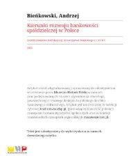 Kierunki rozwoju bankowości spółdzielczej w Polsce.