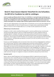 Bertel O. Steen lanserer bilportal i SharePoint for sine forhandlere ...