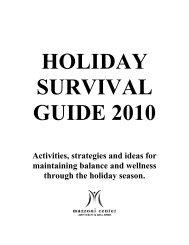 HOLIDAY SURVIVAL GUIDE 2007 - Mazzoni Center