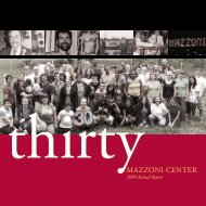 2009 Annual Report: Thirty - Mazzoni Center