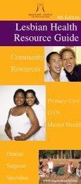 Lesbian Health Resource Guide - Mazzoni Center