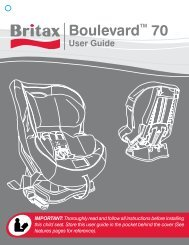 Britax Boulevard 70 Instruction Manual