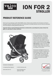 Valco Baby Ion EX 4 Two User Manual