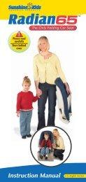 Sunshine Kids Radian 65 Instruction Manual