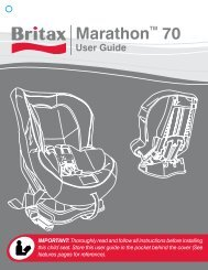 Britax Marathon 70 Instruction Manual