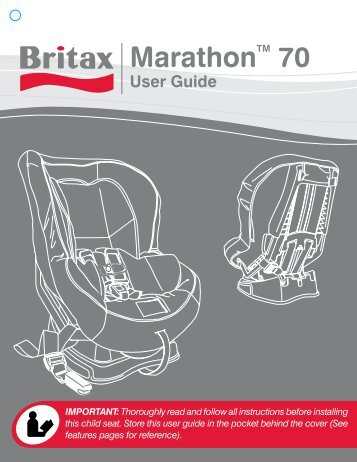 Britax Marathon 70 Instruction Manual