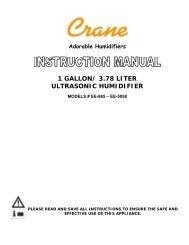 1 GALLON/ 3.78 LITER ULTRASONIC HUMIDIFIER - Air & Water