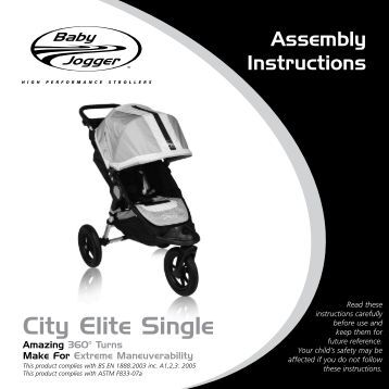 baby jogger city elite cleaning instructions