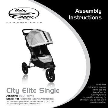 City Elite Single - Baby Jogger