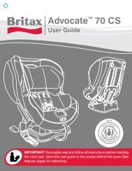 Britax Advocate 70 CS User Manual